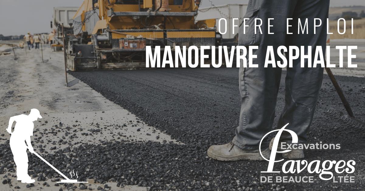 Offre d'emploi – Manoeuvre asphalte